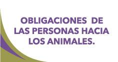 Obligaciones de las Personas hacia los Animales