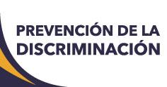 Banner de la Prevención de la Discriminación